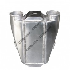 """Liquid/Water to Air Turbo Intercooler 11""""X9.5""""X3.5"""",3.5"""" Thick,2.5"""" Air Inlet Outlet"""