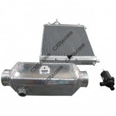 Aluminum 2 Rows Heat Exchanger Barrel Style Liquid Water to Air Intercooler And Water Pump