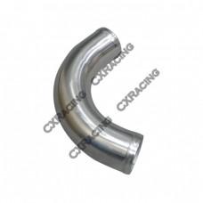 "2.25"" OD 120 Degree Aluminum Pipe, Mandrel Bent Polished, 2mm Thick Tube, 10"" Length"
