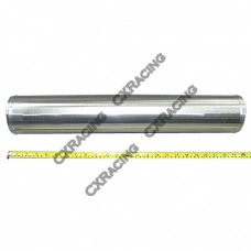 """4"""" Aluminum Straight Pipe, Polished, 3.0mm Thick, 24"""" Length"""