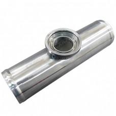 """2.5"""" O.D. BOV FLANGE PIPE, Polished Aluminum, 9"""" long, for HKS SSQV/SQV Blow Off Valves"""