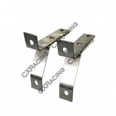 Thick Polished Stainless Steel Mounting Bracket For Datsun 510 Front Bumper