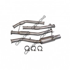 """Exhaust Mid Y pipe + Catback for 89-94 240SX S13 LS1 Swap 3"""" Vband"""