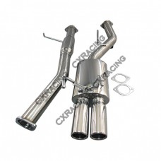 DUAL Tip Cat-back Exhaust System For 89-94 240SX S13 SILVIA