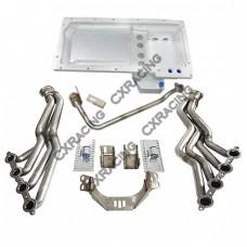 LS1 LSx Motor T56 Transmission Mount Kit Oil Pan Header For 300ZX Z32