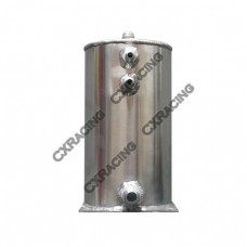 "Aluminum Fuel Surge Tank 5"" Round x9"" H Works For Many Applications"