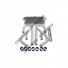 "31x12x4 inch Universal Intercooler + 3"" Piping Kit for DSM SUPRA Mustang"