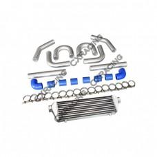 """28x7x2.5 FMIC 2.5"""" INTERCOOLER + Aluminum PIPING KIT for VW PASSAT JETTA GTI GOLF"""