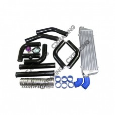 "28x7x2.5 Inch INTERCOOLER + 2.5"" PIPING KIT for BMW A4 A6 EVO Golf"