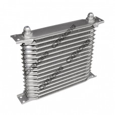 "Aluminum Oil Cooler 9.5"" Core 16 Row AN8 Fitting Hi Performance"