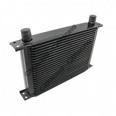 "Aluminum Oil Cooler 11"" Core 25 Row AN10 Fitting Hi Performance Black"