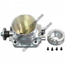 Q45 80mm Billet Aluminum Throttle Body for NISSAN SKYLINE Silvia S13 S14 S15 SR20DET Motor