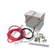 Aluminum Polished Battery Box Relocation Kit + Cables