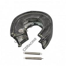 Black T25 T28 GT25 GT28 T3 Turbo Heat Shield Blanket Fiber Glass
