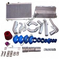 Intercooler Intake Radiator Piping Kit For 83-88 Toyota Truck Hilux 2JZ-GTE Stock Turbo 2JZGTE
