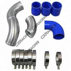 "2.5"" Intercooler Hard Pipe Piping Kit For 05-08 Audi A4 B7 2.0T"
