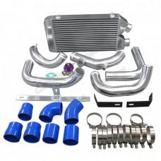 """25""""x11""""x3"""" FMIC Intercooler Kit + BOV For S13 S14 240SX RB20/RB25DET"""