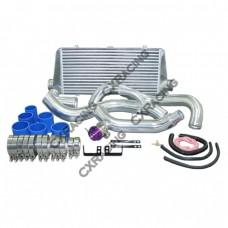 "FMIC Intercooler Kit + Greddy Style BOV For 89-99 240SX S14 S15 SR20DET, 24""x12""x3"" Core,3"" Inlet"