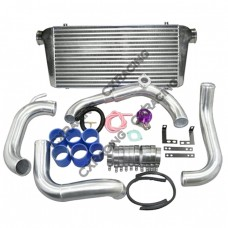 "FMIC Intercooler Kit + Greddy Style BOV For 89-99 240SX S13 SILVIA SR20DET,24""x12""x3"" Core, 3"" Inlet"