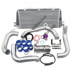 "FMIC Intercooler Kit + Greddy Style BOV For 89-99 240SX S13 SILVIA SR20DET, 24""x11""x3"" Core, 2.75"""