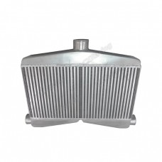 """2-In-1-Out Twin Turbo Bar & Plate Intercooler 3.5"""" Core Dual 2.5 Inlet"""