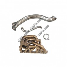 T4 Thick Manifold Downpipe kit Dump Tube For 98-05 GS300 2JZ-GE NA-T