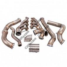 Turbo Header Manifold Downpipe Kit For 82-92 Camaro LS1 LSx Engine NA-T