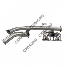 Manifold + Downpipe For 89 90 Nissan 240SX S13 With KA24E (SOHC) Engine