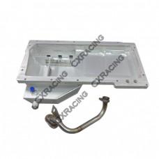 Front Sump Aluminum Oil Pan For Cressida MX83 GM LS1/LSx Swap
