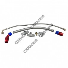 Turbo Oil Line Feed Drain Return Kit For Mazda RX7 RX-7 FC 13B AN10