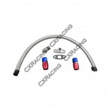 Turbo Oil Return Drain Kit 10AN AN10 AN 10 For T3 T4 T04E T04B Oil Pan Plug /Fitting / Line