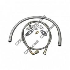 Turbo Oil / Water Line Feed Drain Fitting Line Kit For RB20/25DET RB20 RB25 240SX Skyline S13 S14