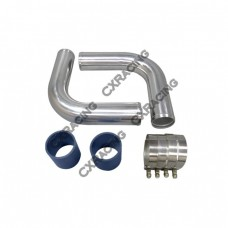 """2 x 3"""" OD 90 Degree Pipe Kit + 2 x Hose Couplers + 4 x T-Bolt Clamps"""