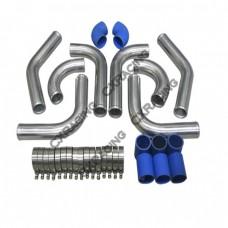 "2"" OD Universal Aluminum Piping Kit CELICA SUPRA, Mandrel Bent, Polished, 2.0mm Thickness Tube"