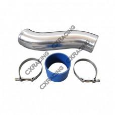"3.5"" OD Alum Intercooler Turbo Air Intake pipe + Hose + 2 Clamps"
