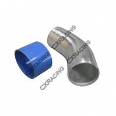 """4"""" O.D. Aluminum 45 Degree Joiner Pipe 10"""" Long + Hose"""
