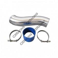 "4"" OD Alum Intercooler Turbo Air Intake pipe + Hose + 2 Clamps"