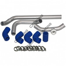 "1.5"" Aluminum Radiator Hard Pipe Kit For LS1 Subaru BRZ Scion FRS Swap LSx"