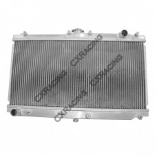 "Aluminum Radiator For 99-05 Mazda Miata ManualL;Core Size: 25""x12""x2"", Inlet & Outlet:1.27"""