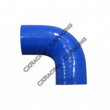"1.5"" 90 Degree 65mm Enforced Universal Blue Silicon Elbow Hose"