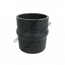 """2.5"""" Black Hump Silicon Hose Coupler For Intercooler Pipe"""