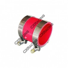 """2.5"""" RED SILICONE HOSE + T-CLAMP 2 INTERCOOLER/PIPING"""