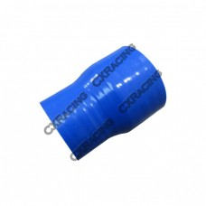 """2.125""""-2.5"""" Straight Reducer 3 Layers Blue Silicon Hose 76mm Long"""