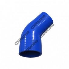 "2.75""-2"" 45 Deg Blue Silicon Hose Reducer For Intercooler Radiator Pipe"