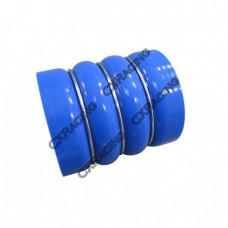 """3.5"""" Blue Diesel Ring Forced+Silicon Double Hump Hose"""