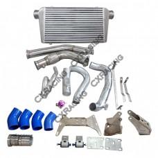 2JZGTE Engine R154 Trans Mount Kit Intercooler Downpipe For BMW E46 2JZ-GTE Swap
