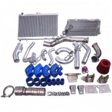 Intercooler Intake Radiator Engine/Trans Mount Downpipe For 2JZGTE 83-88 Toyota Truck 2JZ-GTE