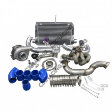 T3 Turbo Intercooler Kit Top Mount + Downpipe For Corolla AE86 4AGE