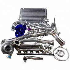 GT35 Turbo Manifold Downpipe Intercooler Kit for BMW E46 M52 Engine NA-T