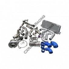 T76 Turbo Manifold Header Downpipe Intercooler Piping Kit For 98-02 Chevrolet Camaro LS1
